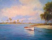 Summer Mooring 14x18 Oil on Canvas